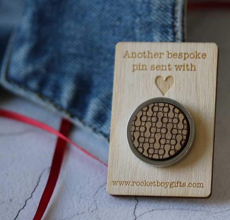 geometric pin badge backing