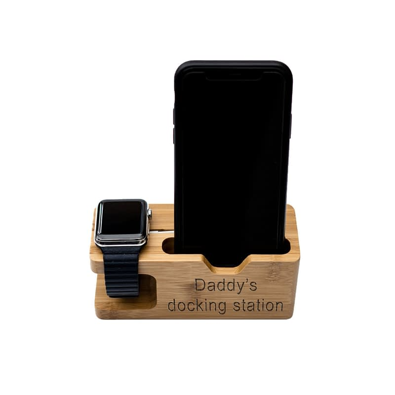 apple watch and phone charging station