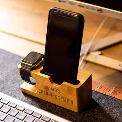 apple mobile phone and watch dock