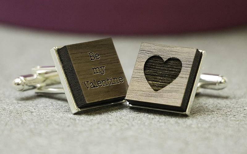 be my valentine personalised cufflinks