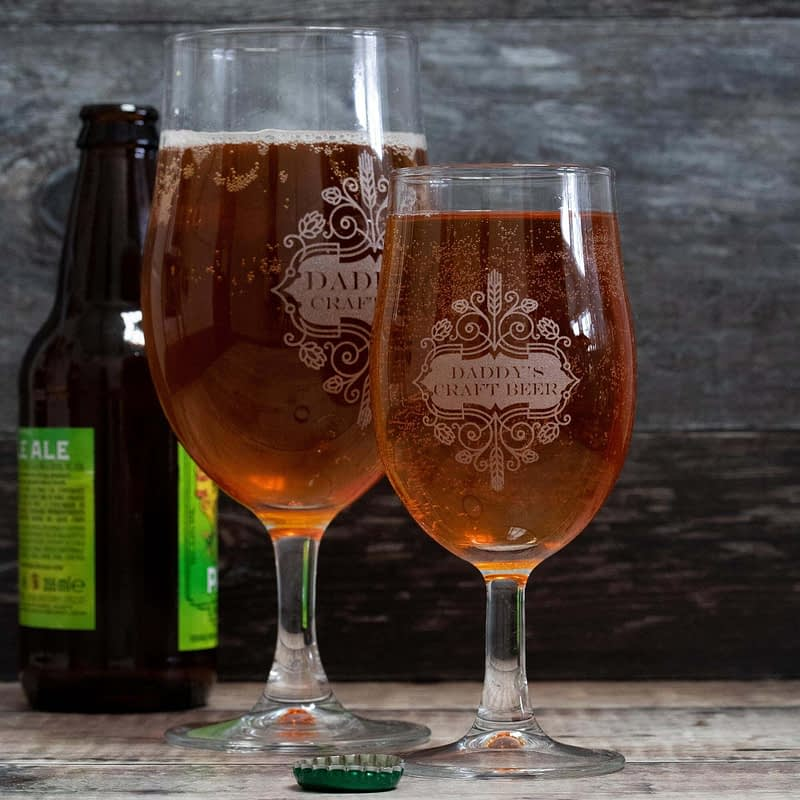 Personalised Engraved Craft beer Glass