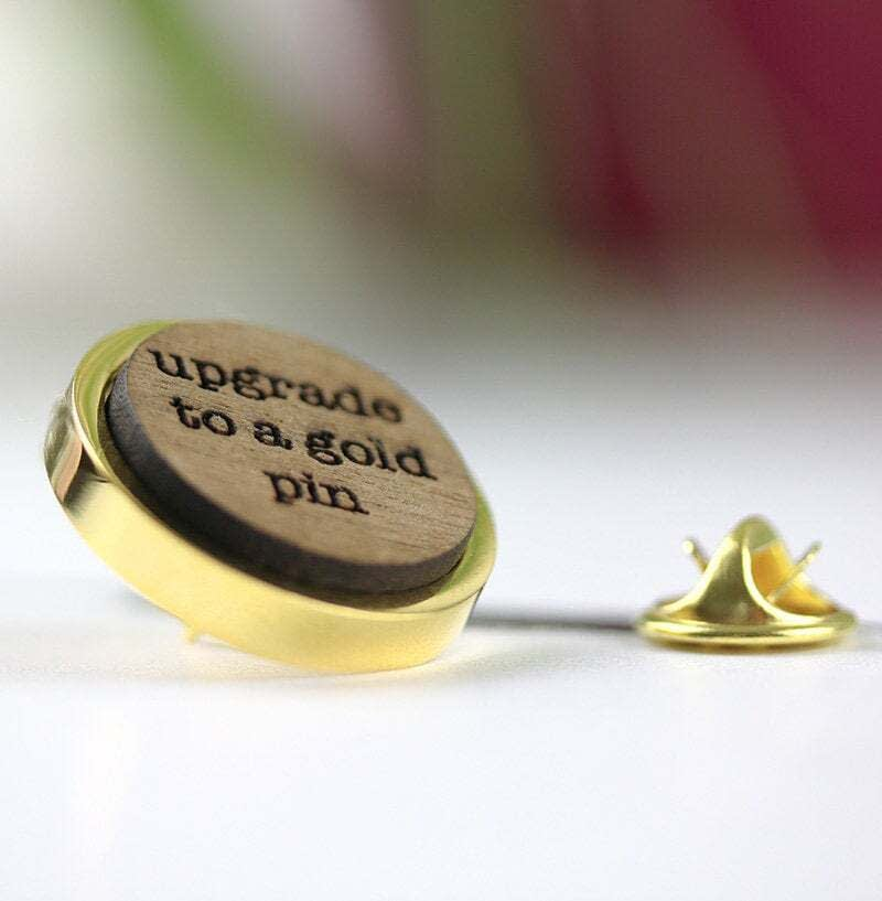 gold wedding party pin