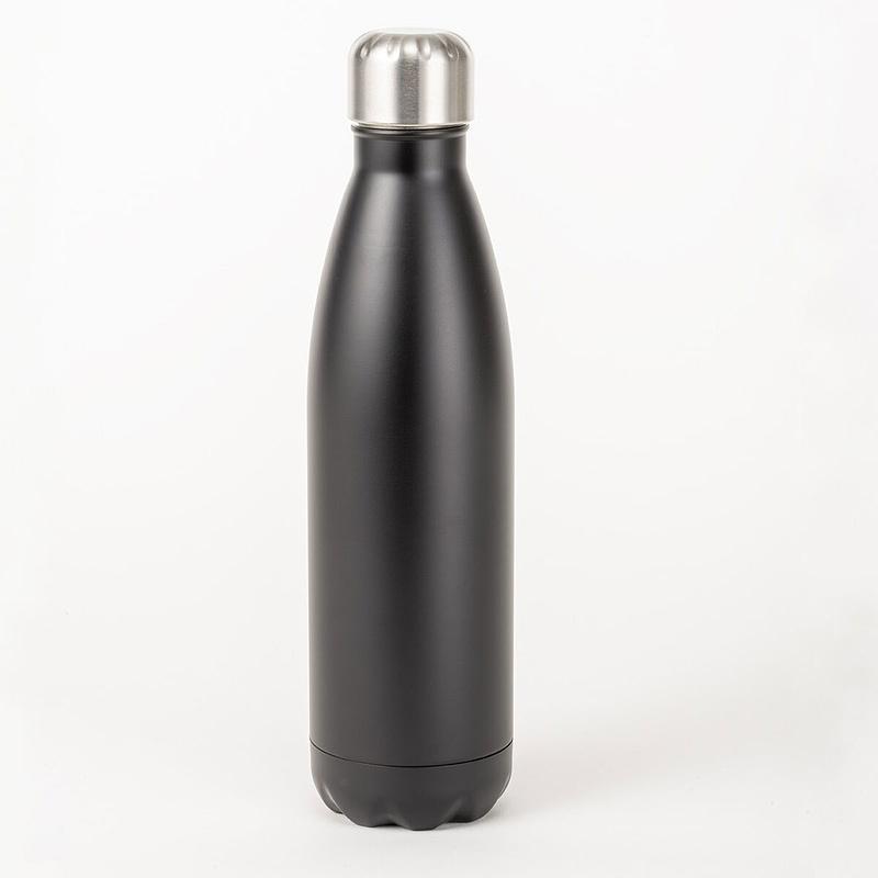 black insulated bottle