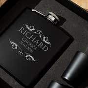 Wedding Party Engraved Hip Flask
